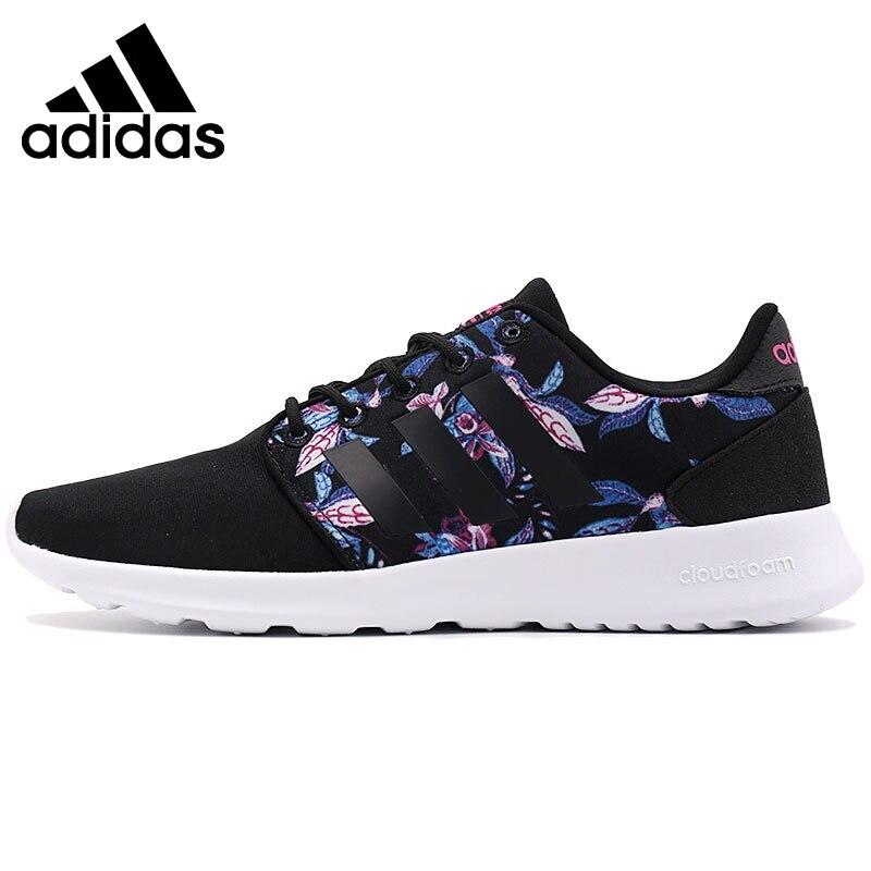 D'origine Adidas NEO Étiquette CLOUDFOAM QT RACER W Femmes de Planche À Roulettes Chaussures Sneakers