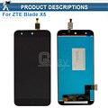 1 unids Pantalla LCD Full + Pantalla Táctil Digitalizador Asamblea Negro Para ZTE Blade X5/Hoja D3 T630 Envío gratis