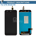 1pcs Black Full LCD DIsplay + Touch Screen Digitizer Assembly For ZTE Blade X5 / Blade D3 T630 Free shipping