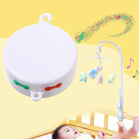 2017 Cute Baby Newborn Bedding Rotating Musical Mobile Music Box Micro SD Card Toy Gift APR29