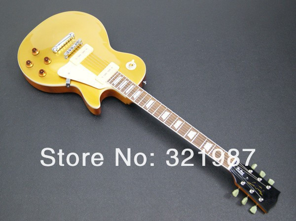 Cheap gold top standard electric guitar free shipping