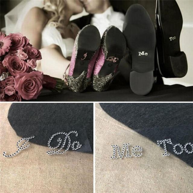 c0e98da52 1 Set I Do Me Too Bridal Groom Shoe Sticker White Clear Rhinestone Wedding  Decor Hot