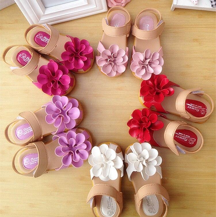 2016 New Fashion Baby Girl Infant Toddler Shoes Children Beach Summer Fairy Flower Sandals Kids Girls Shoes Sneaker Sandals Gift