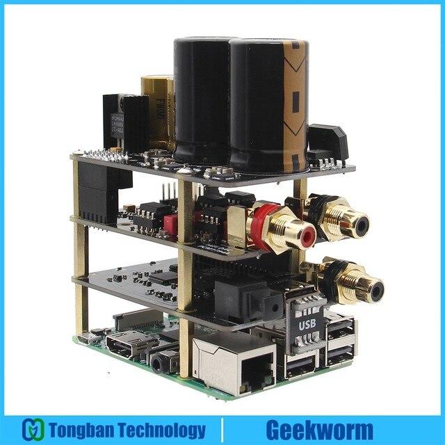 Raspberry Pi Kit X10 Hifi Audio Kit-B X10 DAC Expansion Board + X10-PWR Power Supply Board + X10-I2S Board for Raspberry Pi 3 B