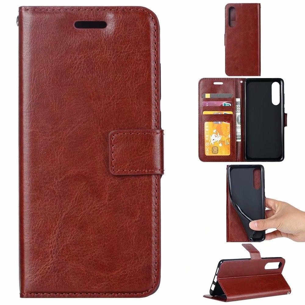 100pcs lot free shipping Crazy Horse Wallet Leather Case for Huawei P30 P30PRO P30Lite Nova 4E
