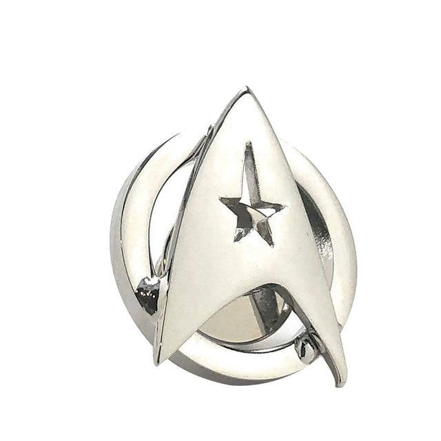Star Trek starfleet lapel pin silver space badge cool geeky sci-fi movie jewelry