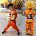Взрослых Мужская/детская Аниме Dragon Ball Z Обезьяна Косплей Костюмы Мальчики Сон Гоку Костюм Дети Хэллоуин Японский Костюм для Мужчин