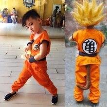 Adultos niños Anime Dragon Ball Z mono Cosplay disfraces hombres niños Son  Goku disfraz niños Halloween traje japonés con cola 838d22c70add