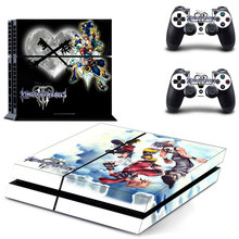 Kingdom Hearts decal PS4 Skin Sticker For Sony Playstation 4 Console +2Pcs Controllers 4 patterns