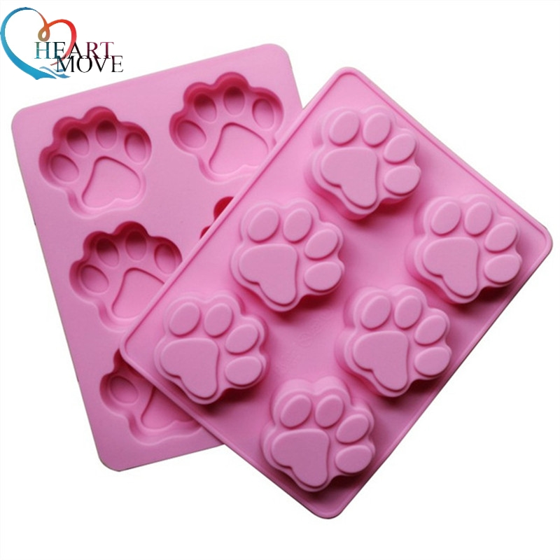 HEARTMOVE Hot sales Lovely Cat Paw Silicone Mold Fondant Cake Decorating Tools Silicone Soap Mold Silicone Cake Mold 9467