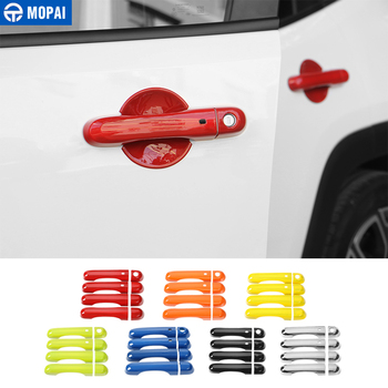 MOPAI ABS Car Side Door Handle Cover Trim With Smart Lock Decoration Stickers for Jeep Renegade 2015-2017 Exterior Car Styling