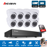 8CH 4MP HDMI DVR Home Security indoor AHD 8 Channel Video Surveillance 4MP CCTV Camera System Night Vision Kit With 2TB HDD