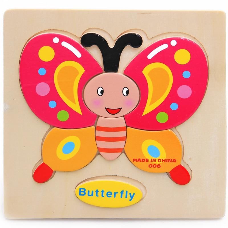 Mainan Bayi Kanak-kanak Pendidikan Haiwan / Buah-buahan / Kenderaan - Teka-teki - Foto 3