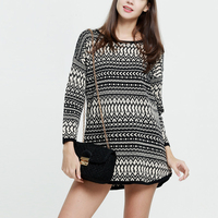 The New European And American Women S Pullover Sweater And Long Striped Sweater Dress Autumn And