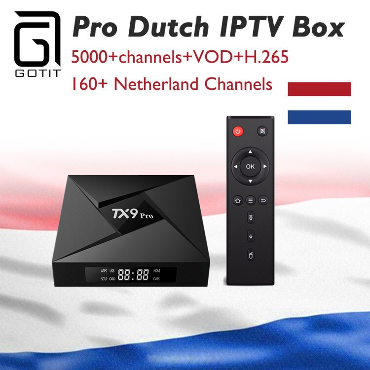 Holland IPTV Box TX9 Pro Android 7.1 3GB 32G 4K UHD TV Box+Netherland Dutch  Isreal Europe Arabic IPTV+VOD Smart OTT Set top Box-in Set-top Boxes from Consumer Electronics    1