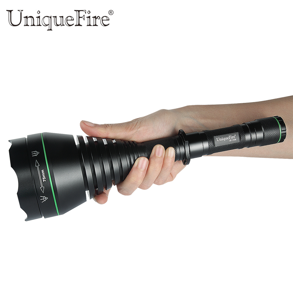 UniqueFire Tactical 1508 Infrared Flashlight T75 IR850nm Led 3Mode Rechargeable Flashlight Torch Tactical Rifle Hunting Lanterna powerful handlight outdoor tactical flashlight 1300lm tactical led flashlight torch outdoor waterproof aluminum alloy