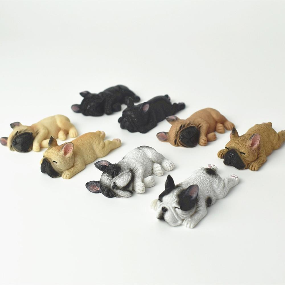 AsyPets Cute Resin Sleeping French Bulldog Ornament Creative Dog Decoration-25