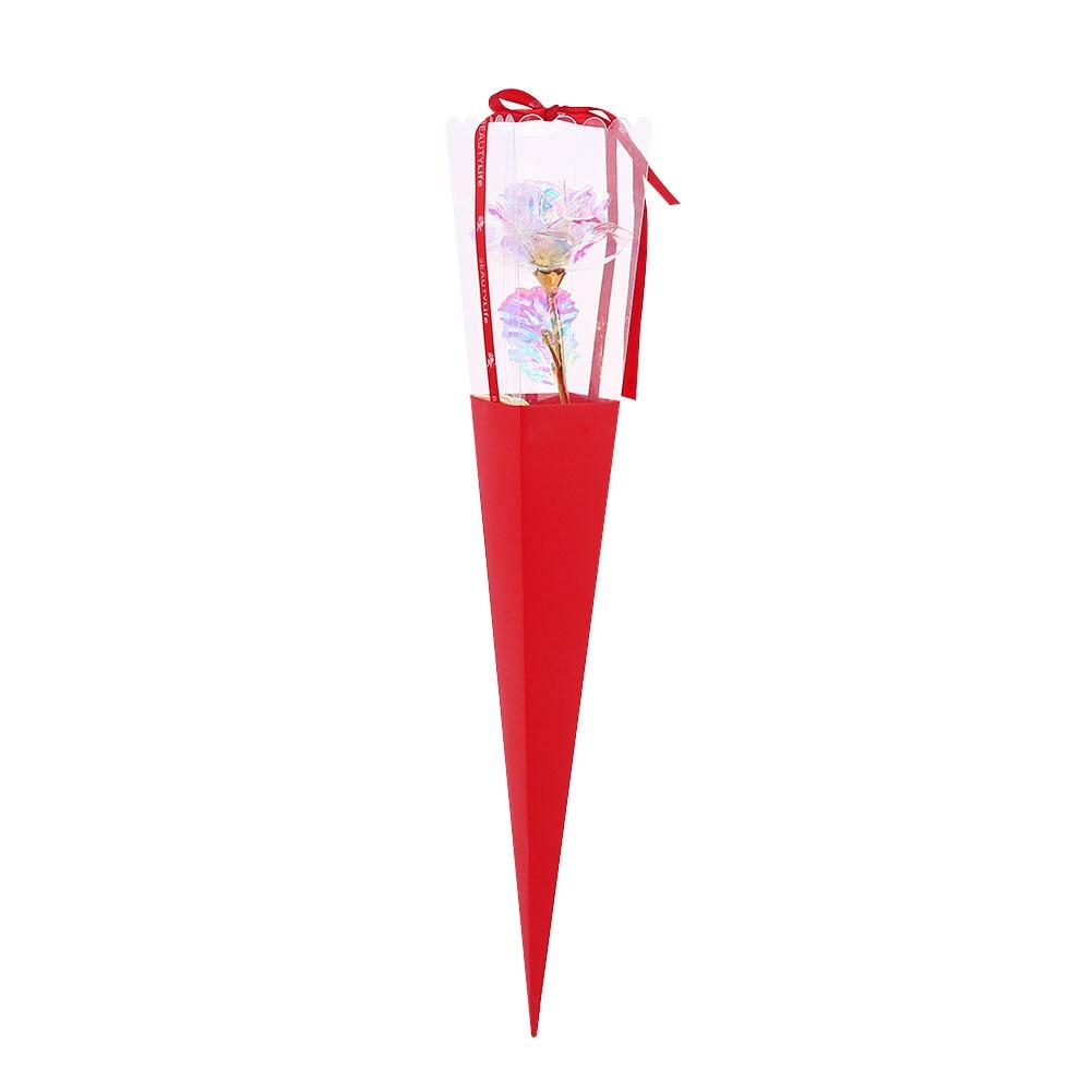 24K Цвет Золото Имитация Розы День Святого Валентина Свадьба для вашего любимого красивый юбилей украшения дома праздник - Цвет: red box