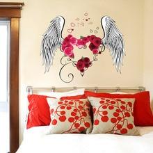 la fundecor amor plumas del ngel pegatinas de pared para cuartos de los nios