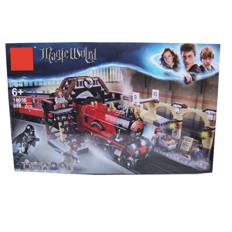 16055 Harry Magic World Potter's Hogwarts Express Train Building Kit Blocks Toys for Children Compatible with 75955