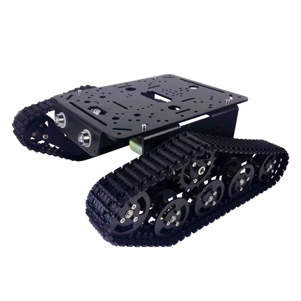 US $77 99 5% OFF|T300 Black Version Aluminum alloy tank/Panzer caterpillar  chassis/experiment platform,controller,robot install interface Owi-in Parts