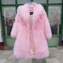 European and American thickening Warm Real Mongolian Sheep Fur coats outerwear luxury winter fur coats