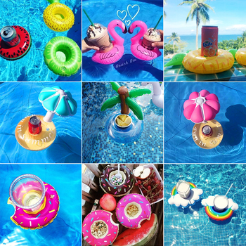Mini Water Coasters Floating inflatable cup holder Swimming pool drink float cup stand