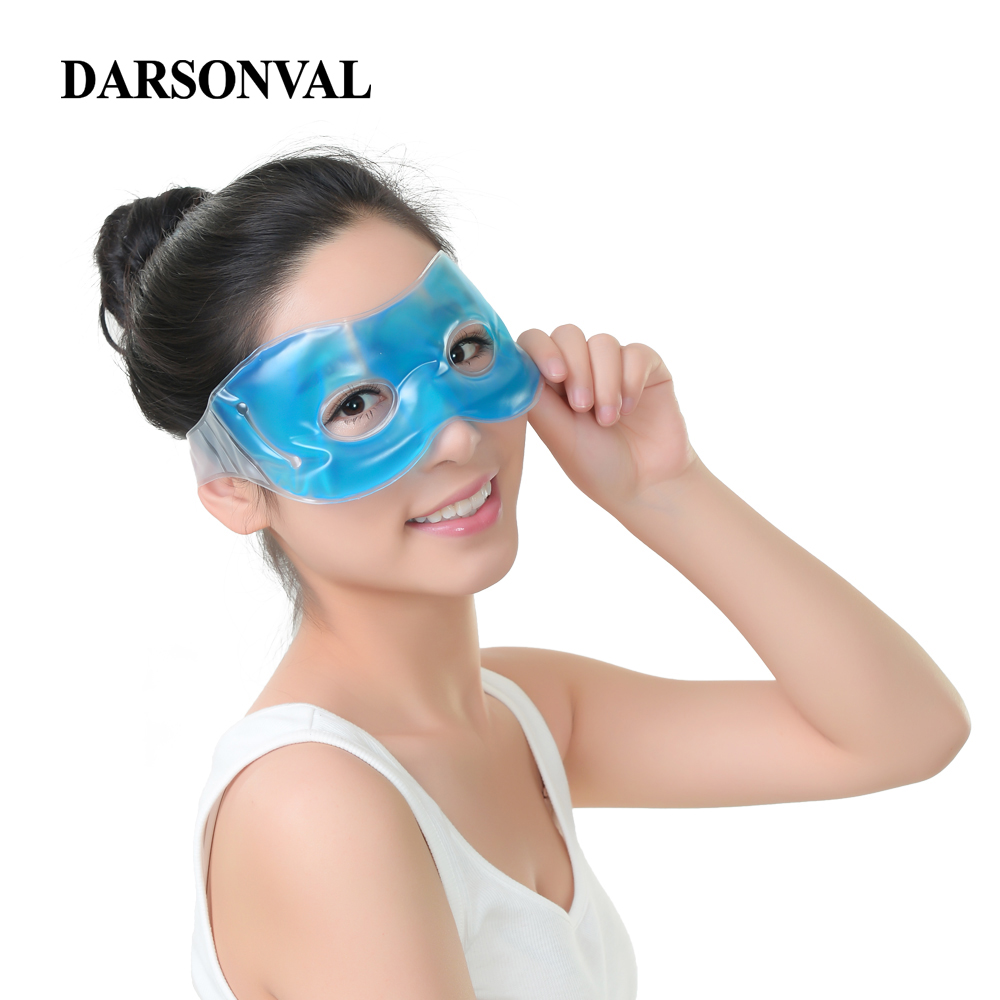 DARSONVAL Hot Cold Sleeping Eye Mask Ice Cool Blue Compress Gel Eyeshade Fatigue Relief Eye Care Relaxation Remove Dark Circle women skin care essential beauty ice goggles remove dark circles relieve eye fatigue gel eye masks women lady makeup
