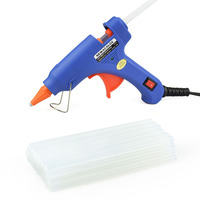 NEWACALOX 20W EU US Hot Melt Glue Gun With 20pc 7mm Glue Stick Industrial Mini Guns