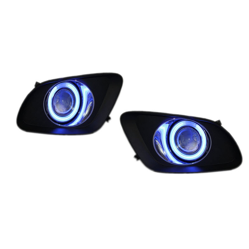 For Geely Emgrand 7 (RV) White Angel Eyes DRL Yellow Signal Light H11 Halogen / Xenon E13 Fog Lights Projector Lens