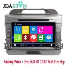 KIA Sportage 3 DVD Player  8″ DVD Player For KIA Sportage 3 2010-2015 With Bluetooth RDS Radio SWC USB GPS Navi Radio