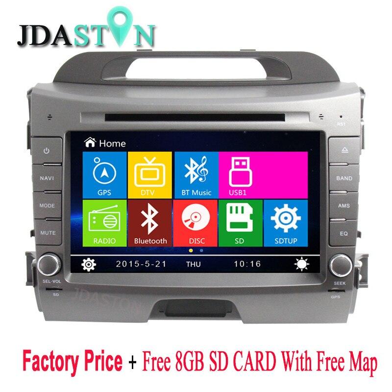 JDASTON 8 2 Din In Dash font b Car b font Multimedia DVD Player For KIA