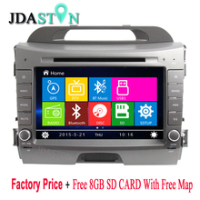 JDASTON 8″ 2 Din In-Dash Car Multimedia DVD Player For KIA Sportage 3 2010-2015 With Bluetooth RDS Radio SWC USB GPS Navi Radio