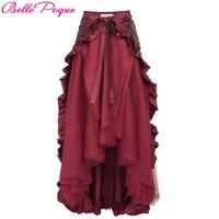 Womens Steampunk Costume Clothing Ruffle Burlesque Skirt Retro Vintage High Waist Long Maxi Skirts 2017 Summer