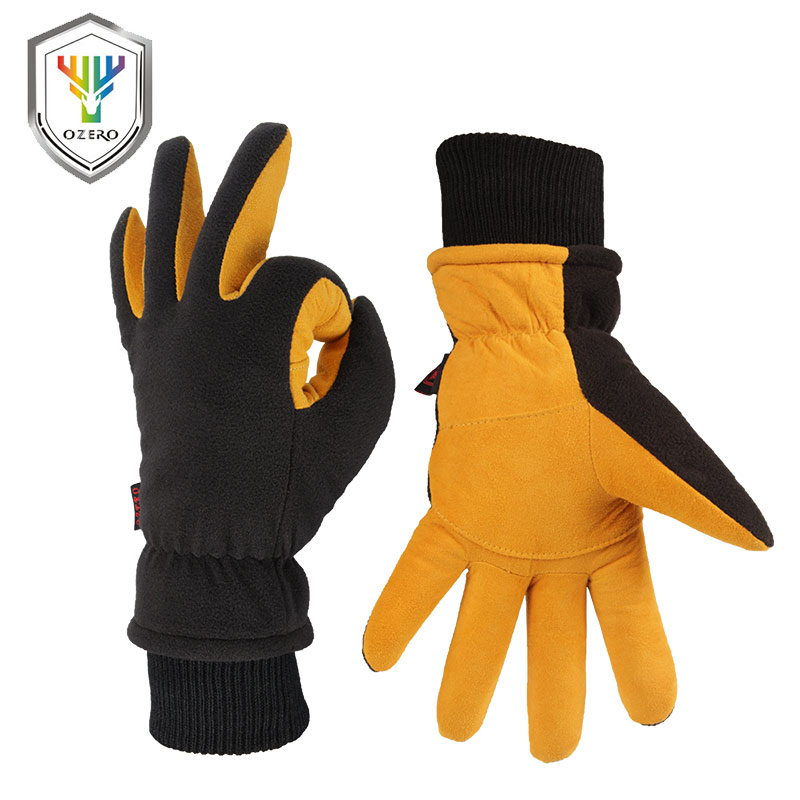 OZERO Winter Warm Gloves Man's Work Driver Windproof Security Protection Wear Safety Working Ski For Man Woman Gloves 8008