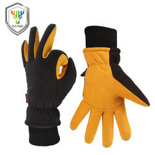 OZERO Winter Warm Gloves Man's Work Driver Windproof Security Protection Wear Safety Working Ski For Man Woman Gloves 9019