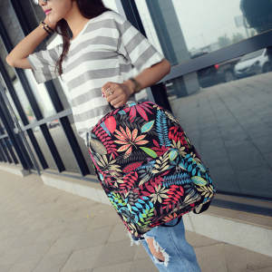 Fashion Backpack Classic Ladies Knapsack Korean Casual Women Bags Travel School-Girls