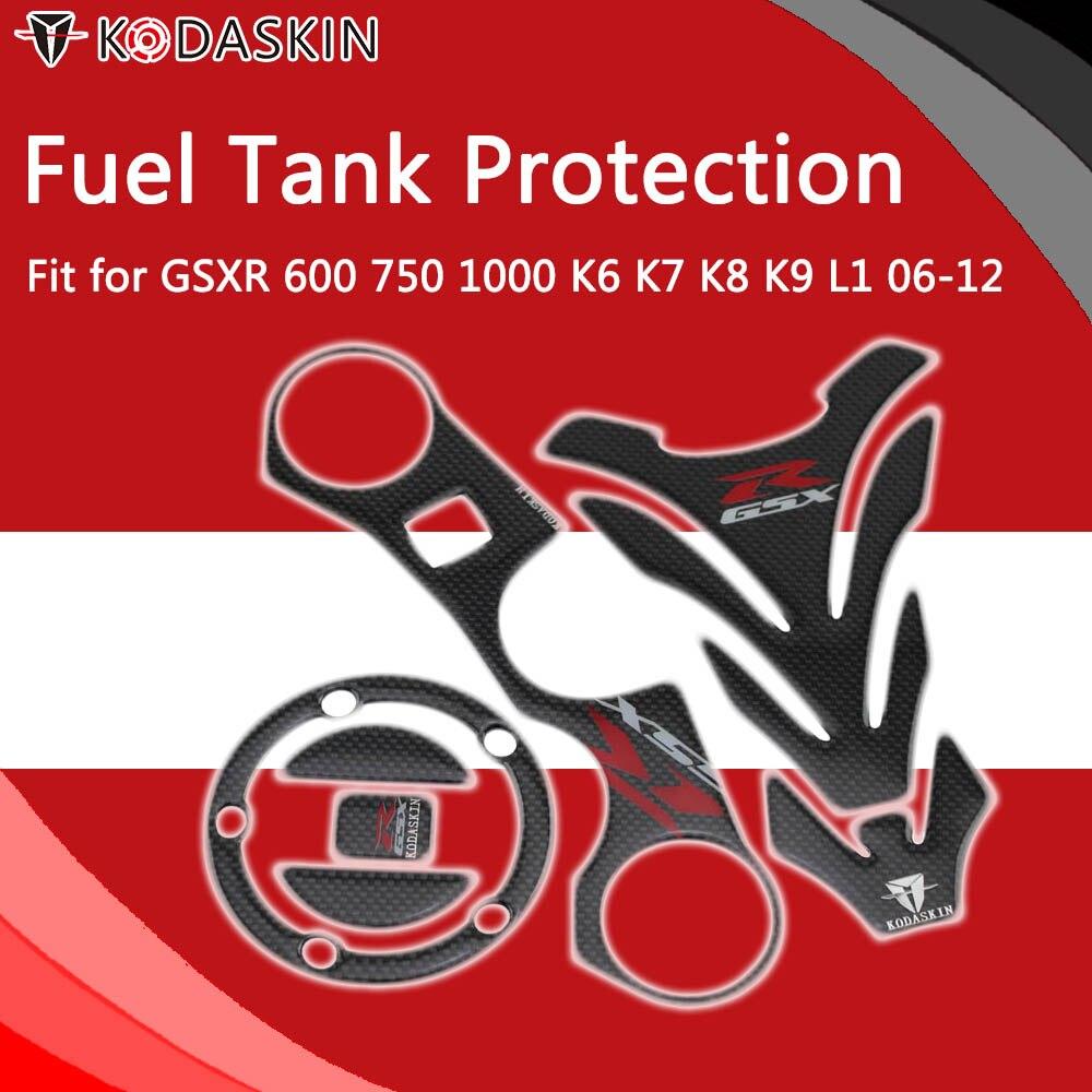 KODASKIN Triple Tree Front End Upper Top Clamp Decal Stickers Tank  Protector for GSXR 600 750 1000 K6 K7 K8 K9 L1 06-12