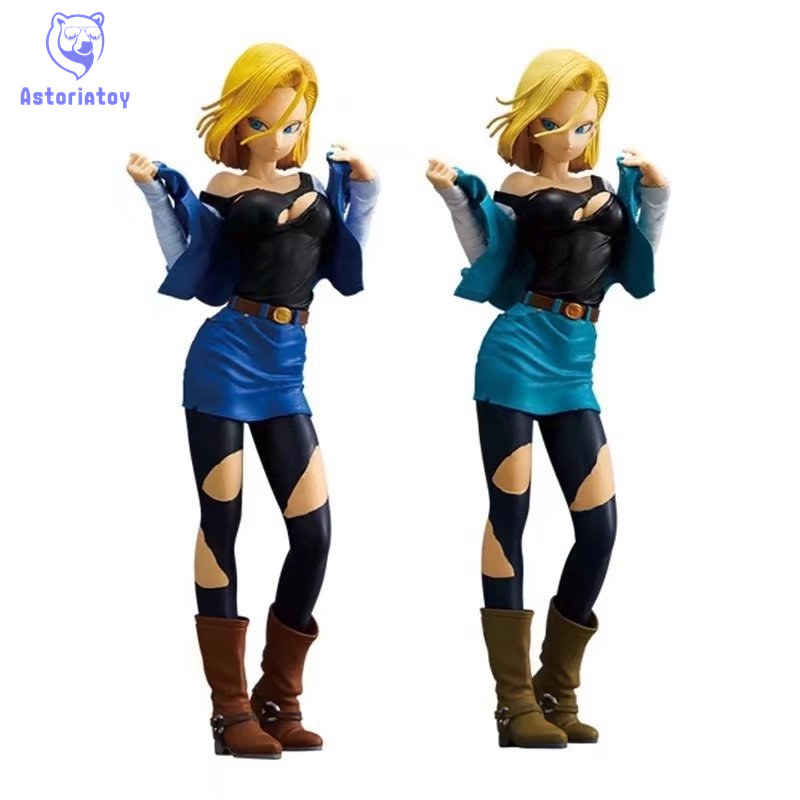 25cm <font><b>Dragon</b></font> <font><b>Ball</b></font> Z Android 18 Lazuli <font><b>sexy</b></font> Anime Action <font><b>Figure</b></font> PVC New Collection <font><b>figures</b></font> toys Collection for Christmas gift image