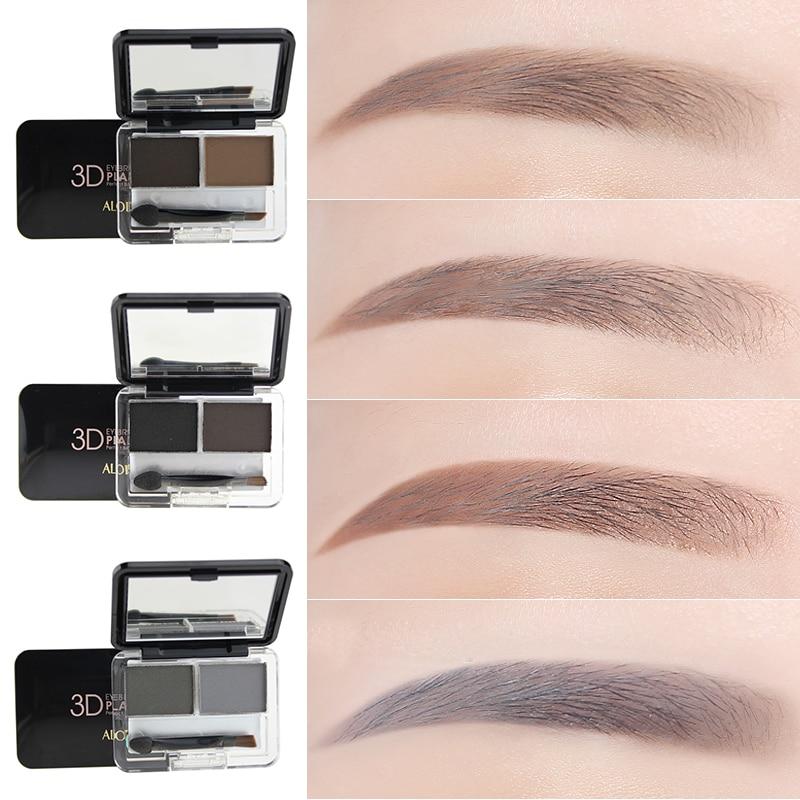 High Quality 2 Color 3d Eye Brow Makeup Kit Set Waterproof Eyebrow