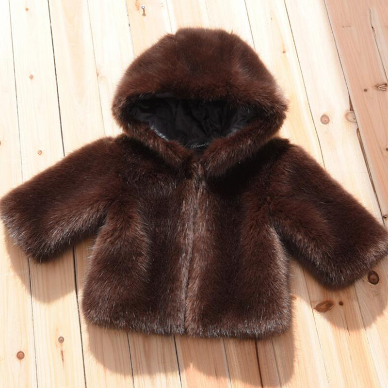 New winter baby girl tops faux fur kid coat winter jackets warm thick fleece parka outwear fashion toddler clothing snowwear I20 winter men jacket new brand high quality candy color warmth mens jackets and coats thick parka men outwear xxxl