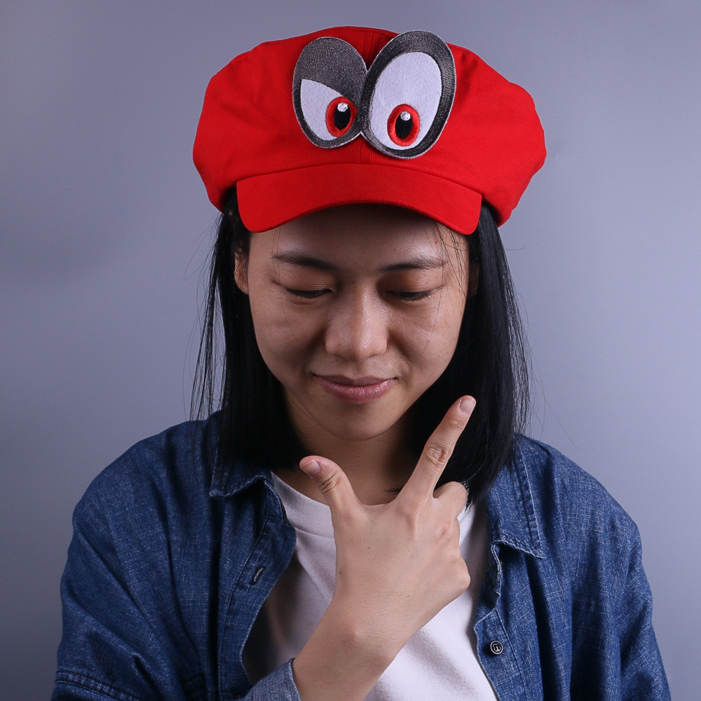 Game Super Mario Odyssey Cap Cosplay Red Mario Hat Adult Kids Anime Handmade New7