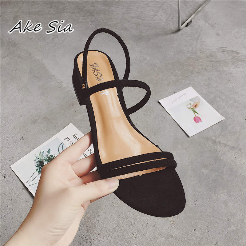 HTB1gatXOQzoK1RjSZFlq6yi4VXad new Flat outdoor slippers Sandals foot ring straps Roman sandals low slope with women's shoes low heel shoes Sandals mujer