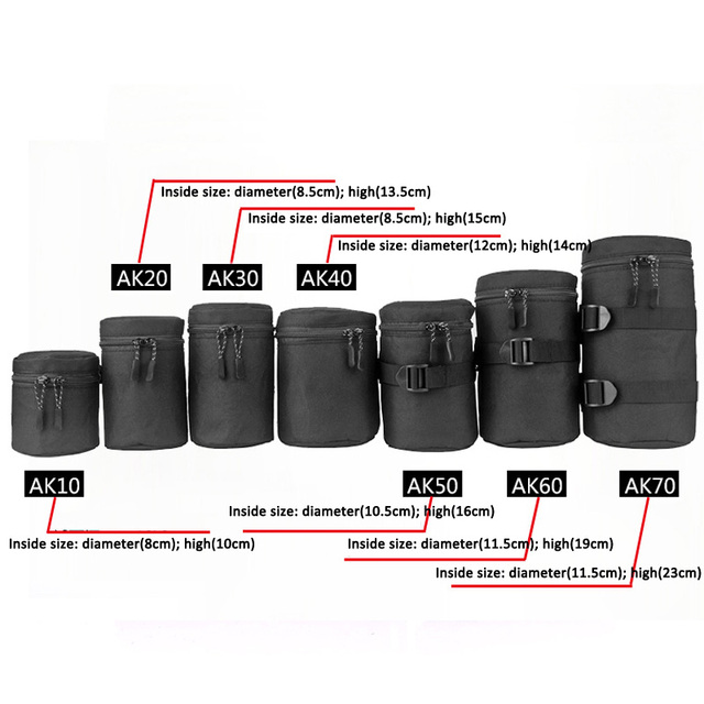 Deluxe מקרה עמיד למים מגן עדשת מצלמה תיק עבור Sony a5100 a6000 Canon 1300d ניקון D7200 P900 D5300 DSLR פאוץ
