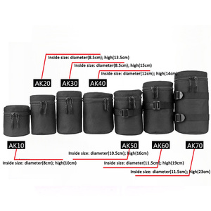 Image 5 - Zipper Photo Thick Protective Lens Case Pouch Bag Compatible with Canon Nikon Sony Olympus Panasonic DSLR Camera