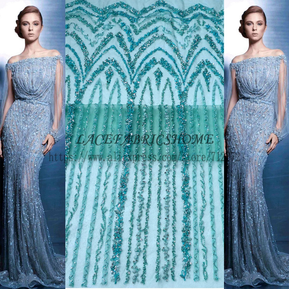 La Belleza Hot hot fashion style green black gray beading lace fabric wedding evening dress lace