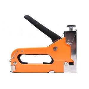 Image 3 - Agrafeuse à ongles manuelle 3 en 1, pistolet avec 600 pièces, pour meuble, tapisserie, outil manuel ménager
