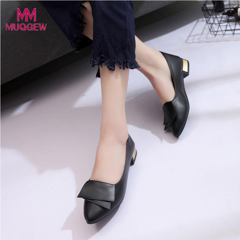 2018 New Women Shoes Summer Office Shoes Wedding Office Lady Dress Pointed Shoes Slip Female Elegant Flat Shoes cresfimix women cute spring summer slip on flat shoes with pearl female casual street flats lady fashion pointed toe shoes