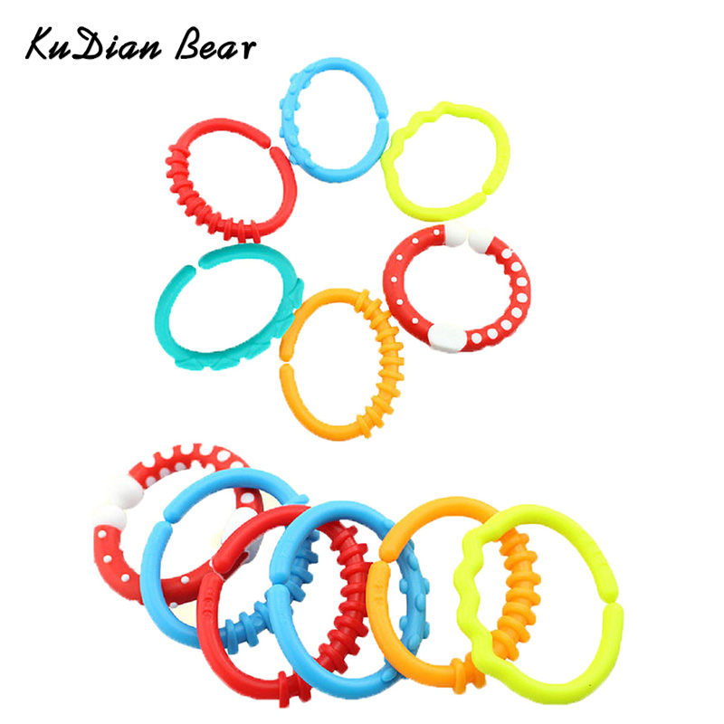Baby Teether Toy Baby Rattle Colorful Rainbow Baby Toys For Children Crib Bed Stroller Hanging Gift - BYC133 PT49
