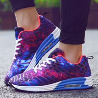 2018 Spring New Print Style Lovers Sports Shoes Air Cushion Running Shoes For Men Women Shox